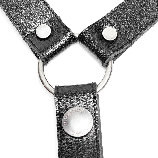 Personality Punk Leather Cross Shoulder Strap Suspenders Accessories