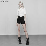 Back Cross Hollow Denim Tight Shorts Pants For Women