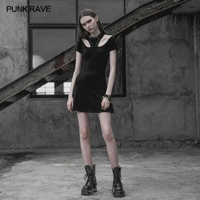 Punk Rave Corn Tie Rope Knitted Dress