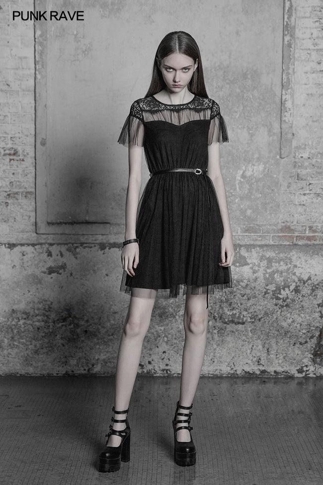 The Black Swan Fairy Lace Mesh Dress
