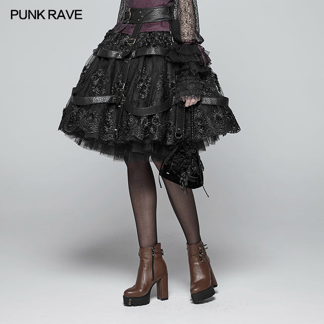 Steampunk Adjustable Skirt Cover Vintage Gothic Accessories