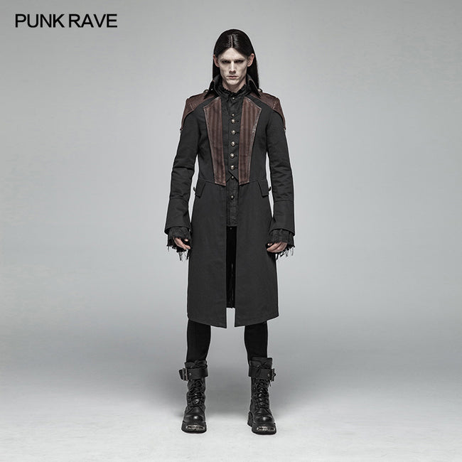 Steampunk Mens Mid-length Coat