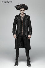 Steampunk Stand-up Collar Mid-length Coat