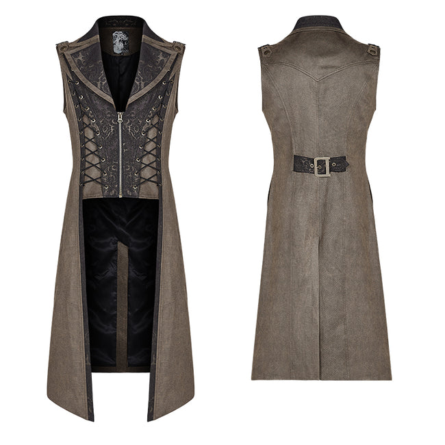 Steampunk The Rope Long Zipper Vest