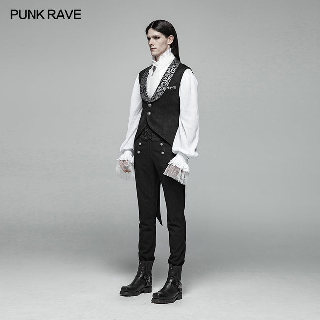 Gothic V-neck Swallow Tail Vest