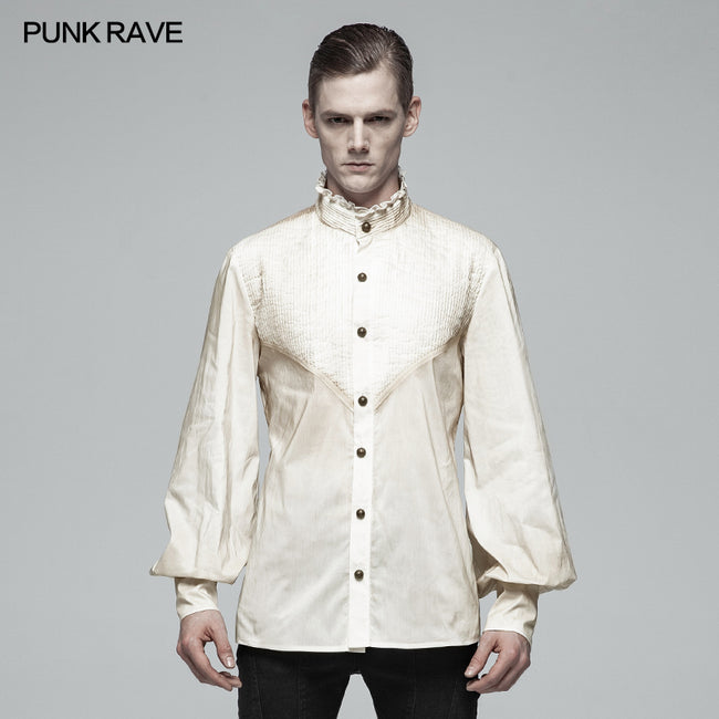 Gothic Mens Daily Wear Thin Shirts