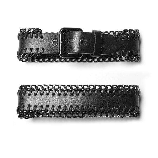 Punk PU -studded Chain Choker