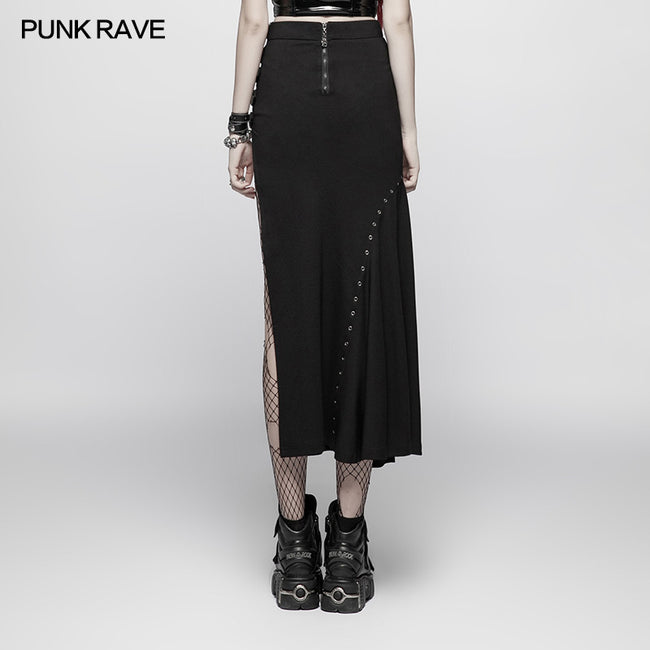 Punk Sexy Slim Fit Split Half Skirt