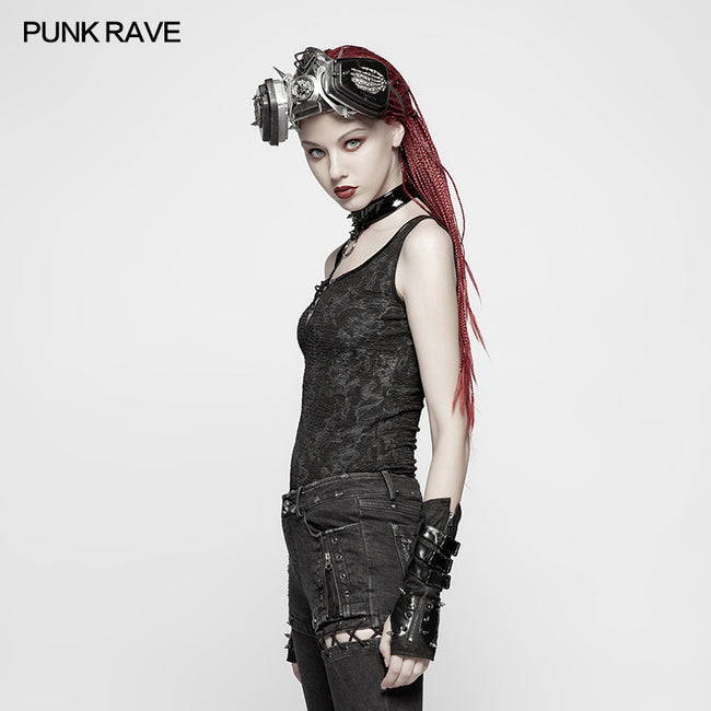 Punk Collar Cover Sleeveless Vest