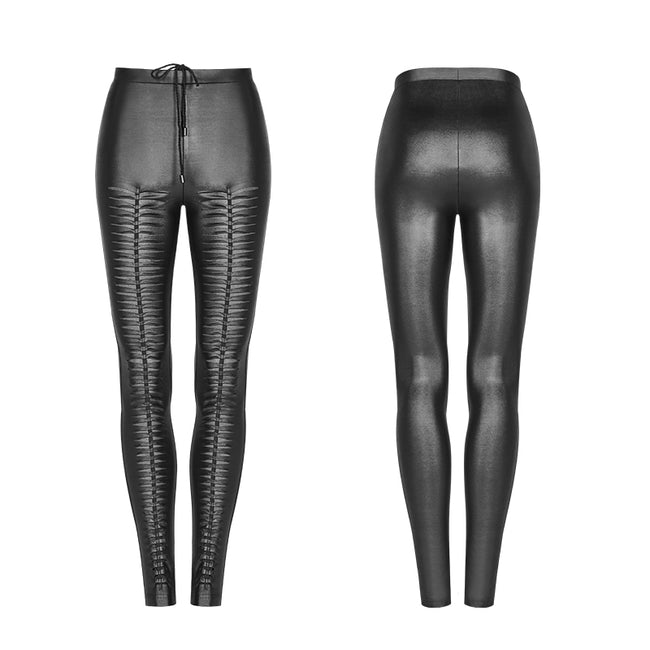 Gothic Devil Footprints Leggings Split Pants