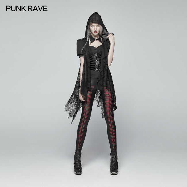 Gothic Daily Lightweight Translucent Lace Long Vest