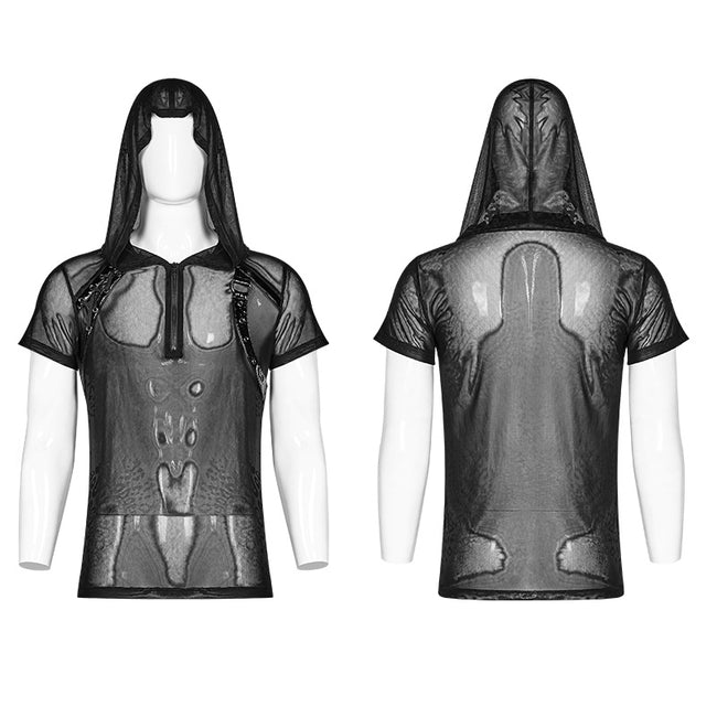 Punk Perspective Hooded Tulle T-shirt