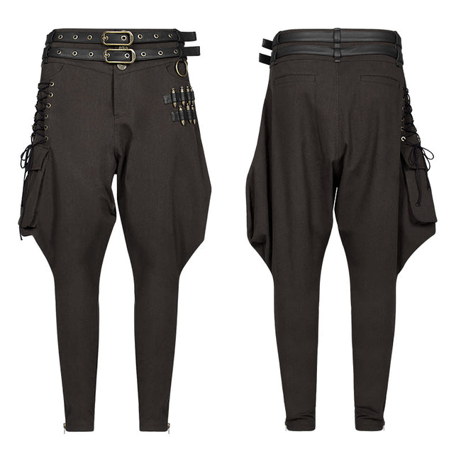 Steampunk Breeches Half Bloom Pants With Bullet Decoration