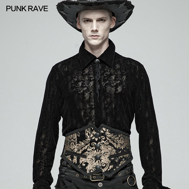 Men Gothic Gorgeous Court Jacquard Girdle