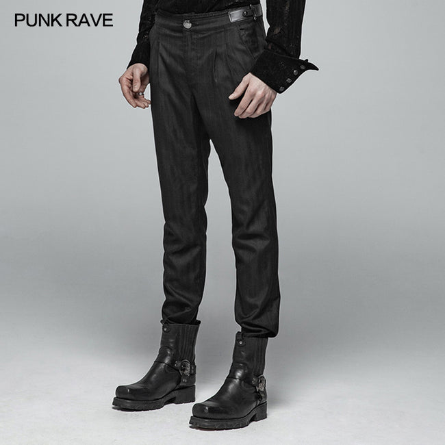 Men Simple Daily Wear Gothic Trousers