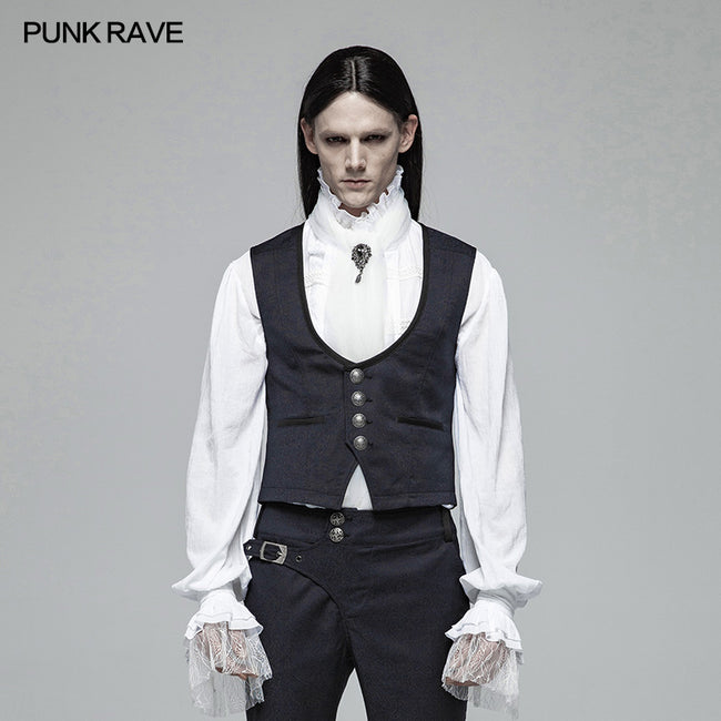 Gentleman Punk V-neck Simple Vest For Men