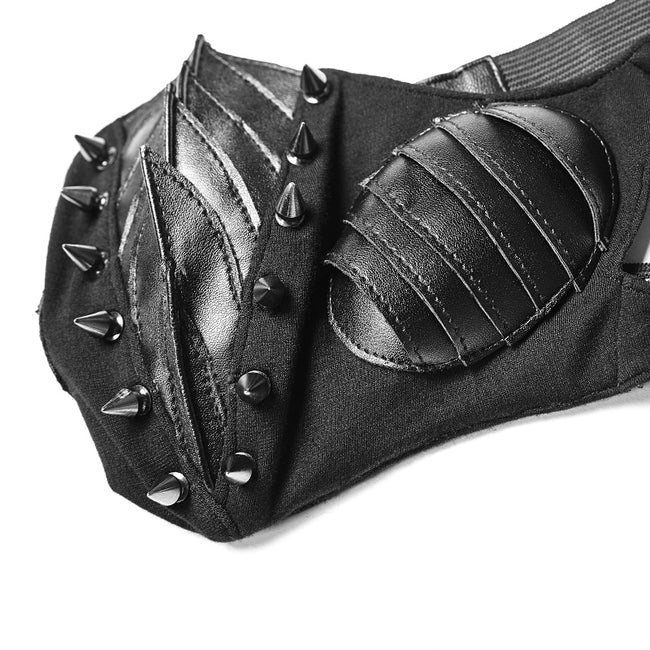 Punk Dark Mask For Male And Female With Studded Decoration