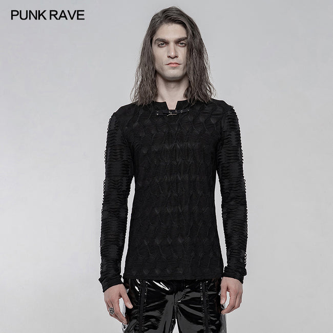 Dark Texture Long Sleeve T-shirt