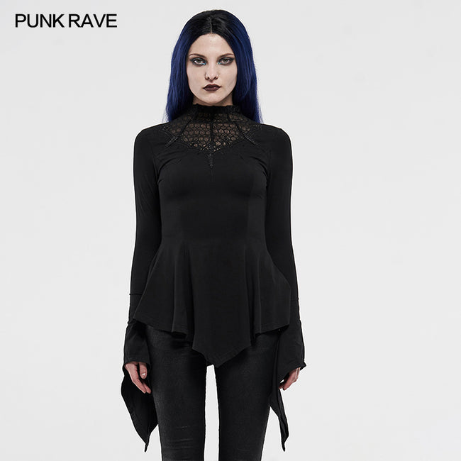 Gothic long-sleeved T-shirt