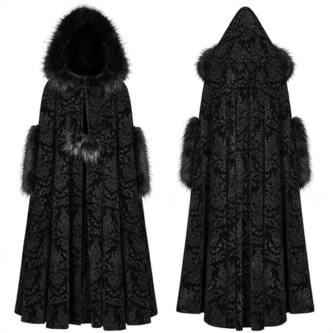 Gothic Winter Gorgeous Hooded Cloak For Women