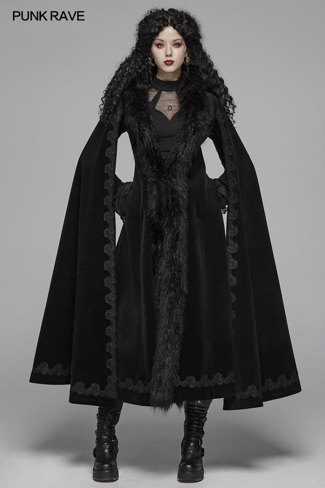 Gothic Vintage Gorgeous Long Coat V-neck Cloak For Women