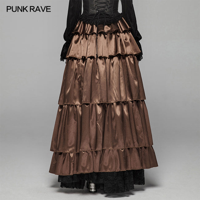Gothic Multi Layered Dress With Elastic Band