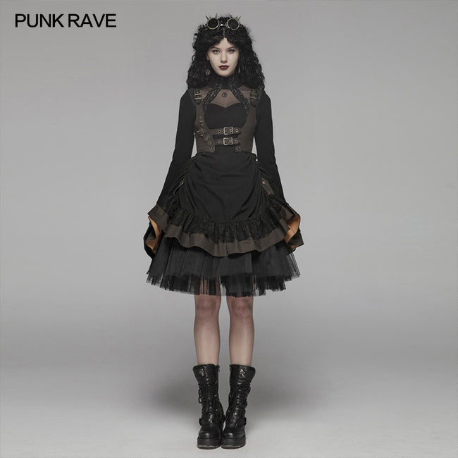Steam Punk Lolita Dress With Lace-up Back