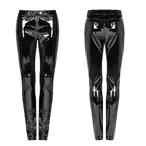 PUNK Winter Patent Velvet Leather Pants