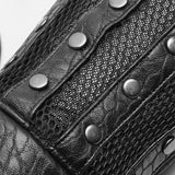 Chinese Style Texture Leather Plate Gloves