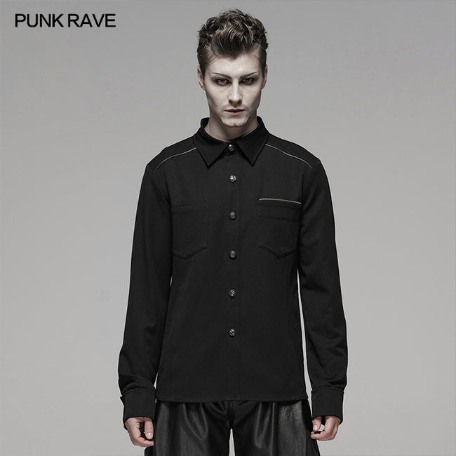 PUNK Light Metal Zipper Shirt