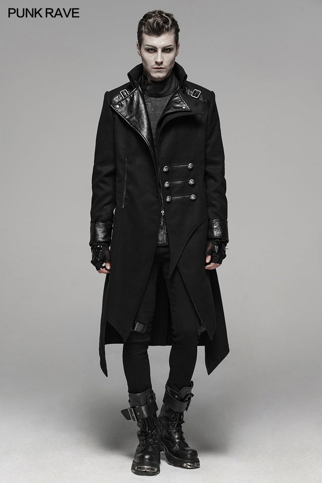 Punk Worsted Long Coat