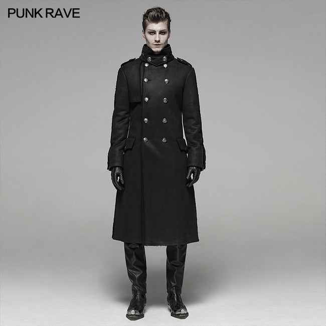 Military Style Medium Length Coat