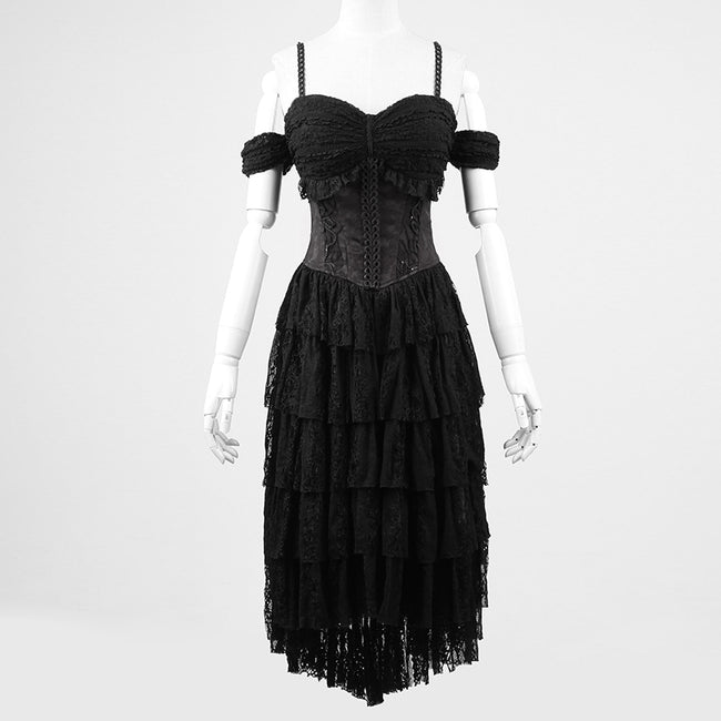 Unique Design Decadent Black Rock Gothic Dresses