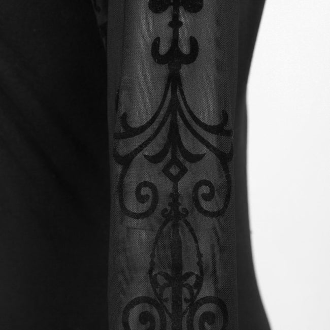 Knee Length Casual Gothic Dresses With The Court Printing Pattern
