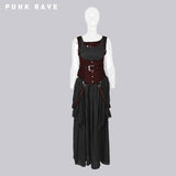 High Quality White Steampunk Long Lace Punk Dress
