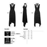 Sleeveless Cotton Summer Long Tight Sexy Evening Punk Dress