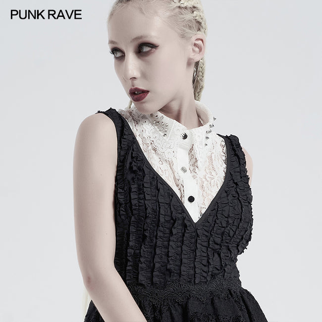 Gothic independent lace collar