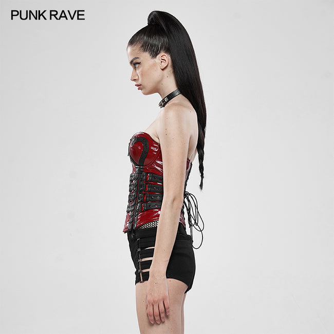 Love and Imprisonment Heavy Metal Heart-Shaped Corset