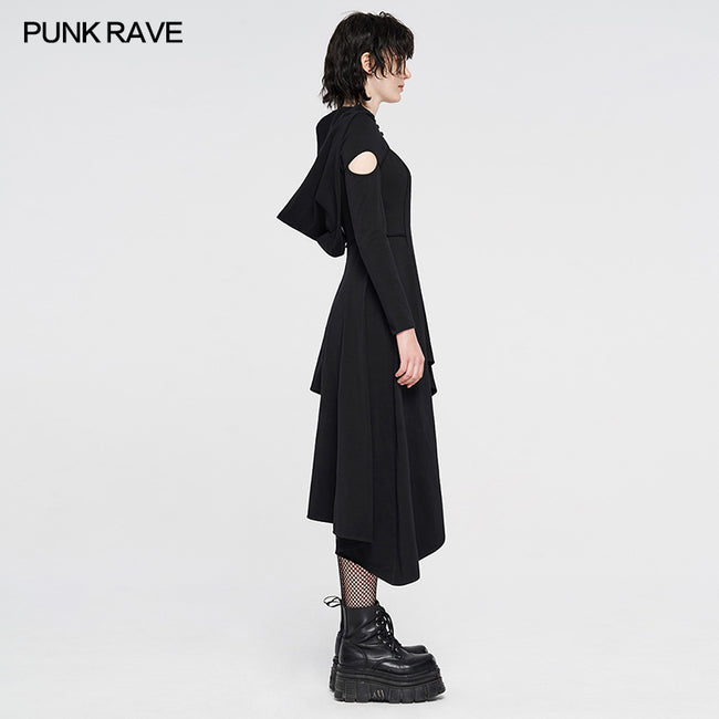 Punk knitted asymmetrical dresses