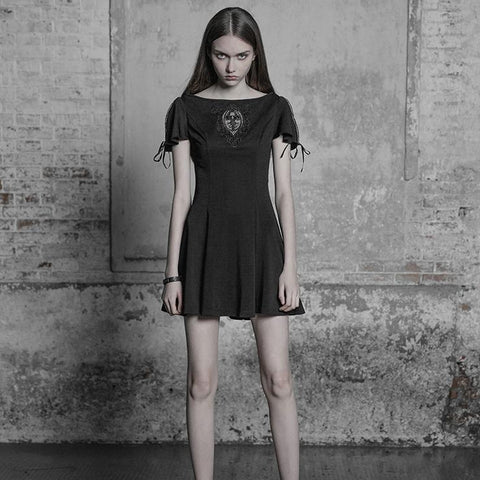 Palace Vintage Embroidered Gothic Dress For Women
