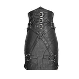 New Fashion Lady Bandage High Waisted Leather Punk Skirt