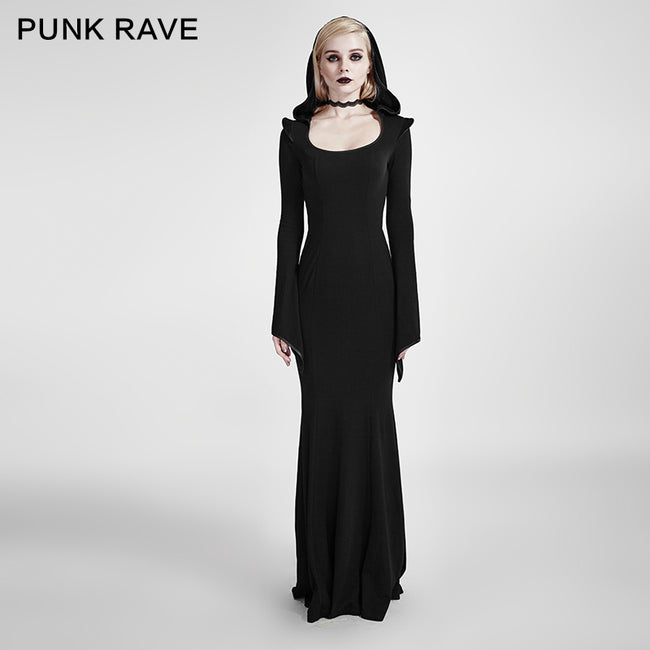 Mermaid Fashion Gowns Sexy Party Evening Gothic Dresses With Hoodie
