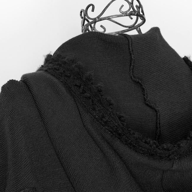 Fashion Ladies Knitted Black Wool Hood Accessories