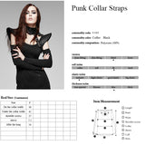 Brown Leather Fabric Sexy Women Neck Corset Collar Accessories