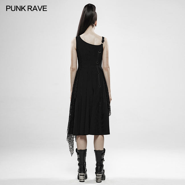 Punk Rebellious Girl Irregular Dress