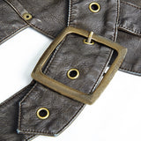 Harness Bag Faux Leather Gothic Victorian Single Pocket Vest