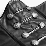 Military Buttons And Zipper Modeling Leather Girdle Accessories