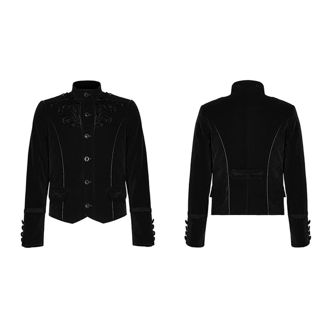 Exquisitely embroidered gothic jacket