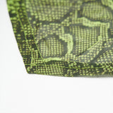 Punk fluorescent serpentine printed triangular face kerchief