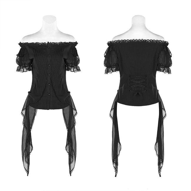 Lolita Broken-winged Black Angel Short Sleeve Shirt